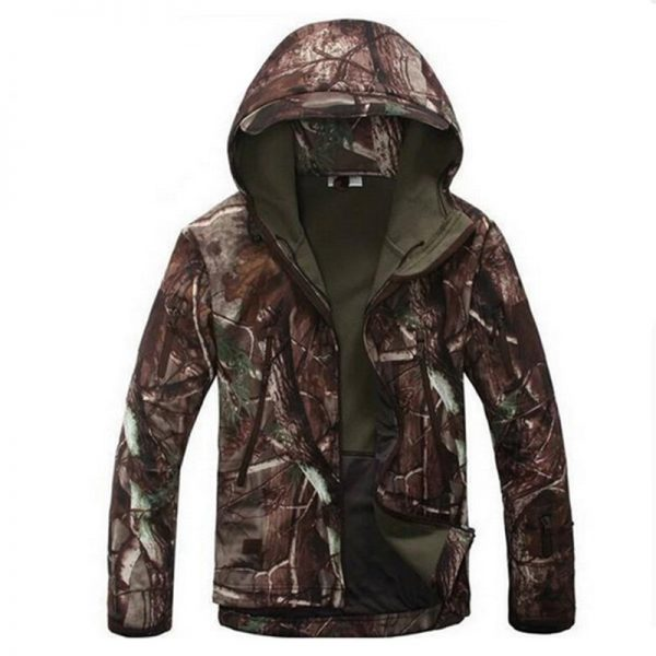 Soft Shell Hooded Military Tactical Jacket